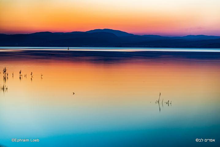 Coucher de soleil sur le lac de Tiberiade © Ephraim Loeb