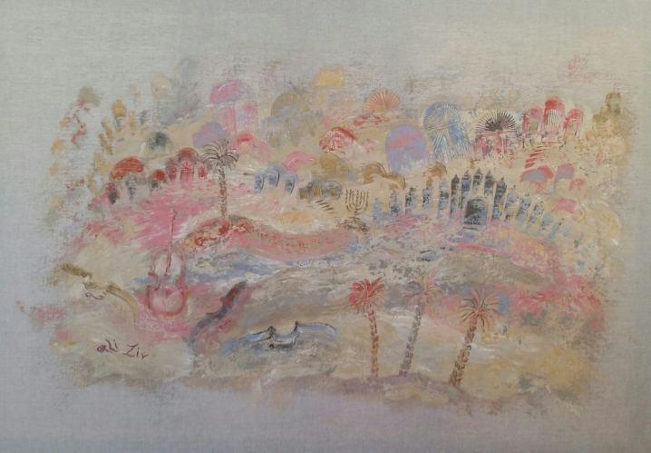 Jerusalem Evasion, Painting by Orli Ziv