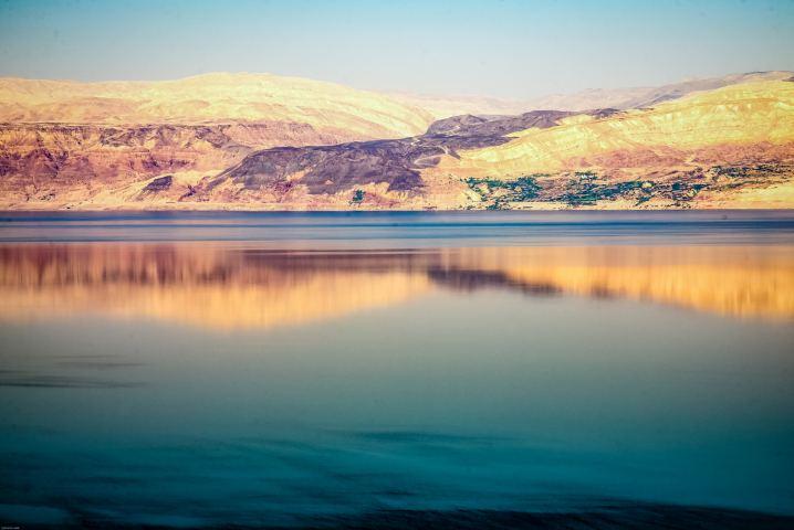 reflections of the dead sea © Ephraim Loeb