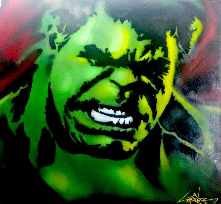 Hulk, Painting by Dan Groover - דן גרובר