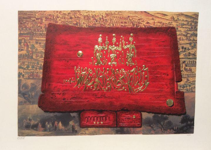 Glory to Jerusalem, Peinture by Moshe Castel