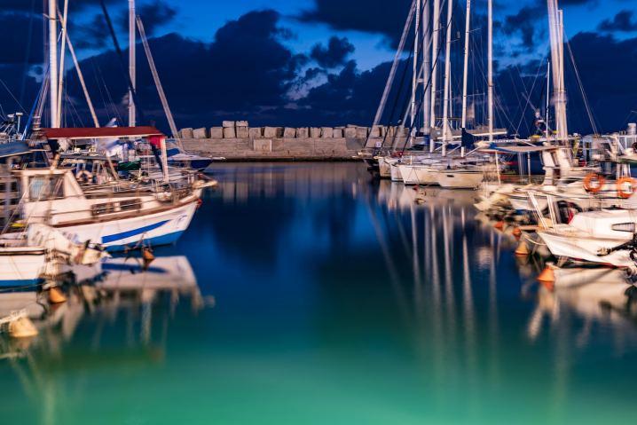 Jaffa harbor at night © Ephraim Loeb