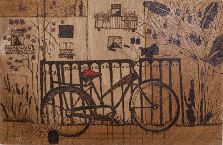 Bicyclette, Painting by Ruth Rachel Cymberg
