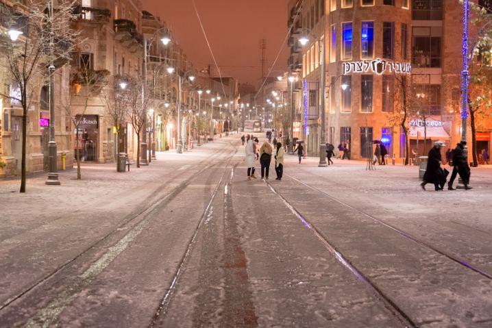 Snowy Jerusalem © Ephraim Loeb