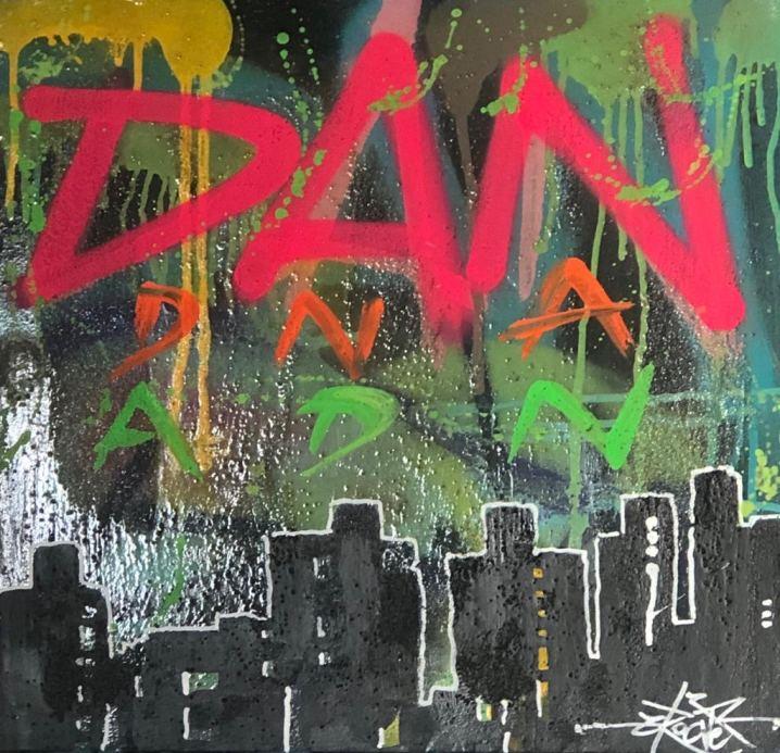 DAN DNA ADN , Painting by Dan Groover