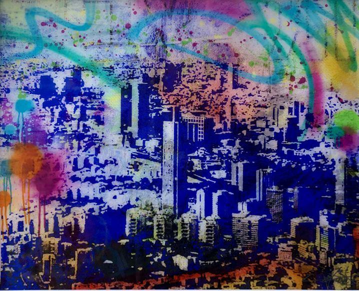 Tel Aviv Skyline , Painting, Photography by Dan Groover