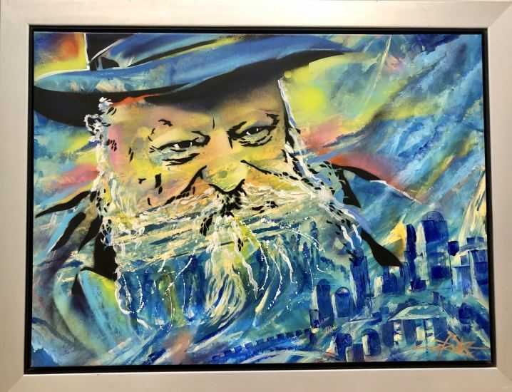 The Rabbi , Painting by Dan Groover