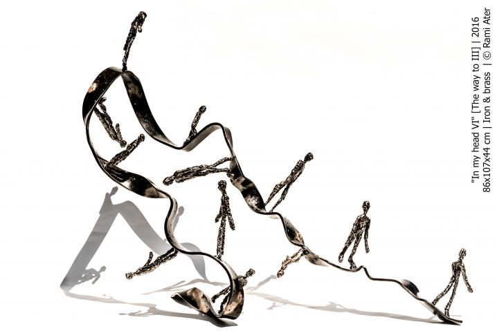 In my head VI [The way to III]  , Sculpture by Rami Ater