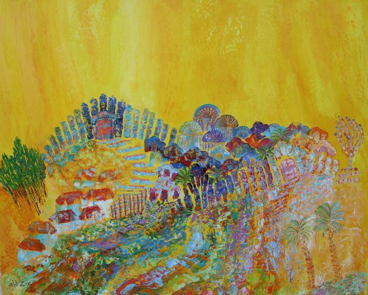 Summer Jerusalem, Painting by Orli Ziv