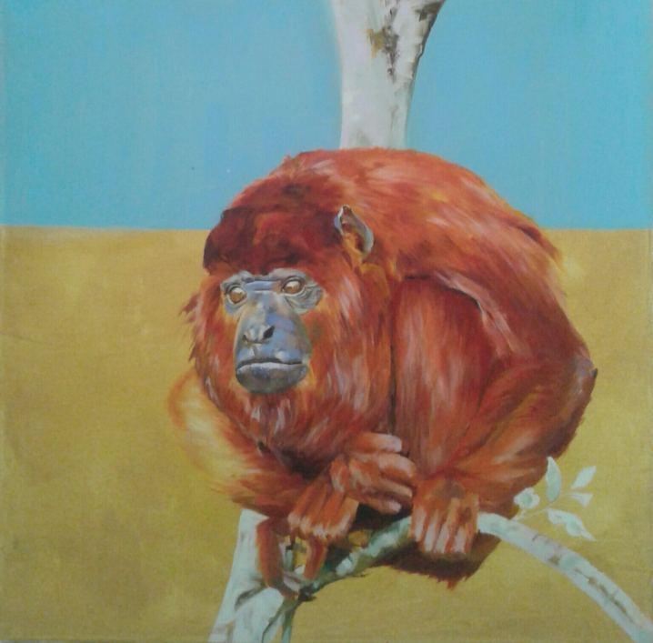 Monkey, Painting by Maayan Shira
