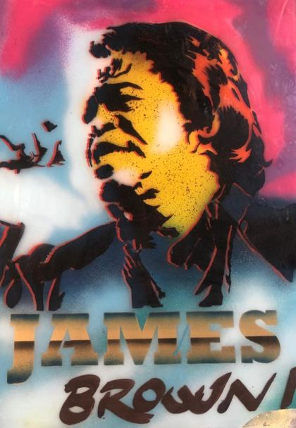 James Brown, Painting by Dan Groover