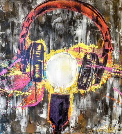 Helmet, Painting by Dan Groover - דן גרובר