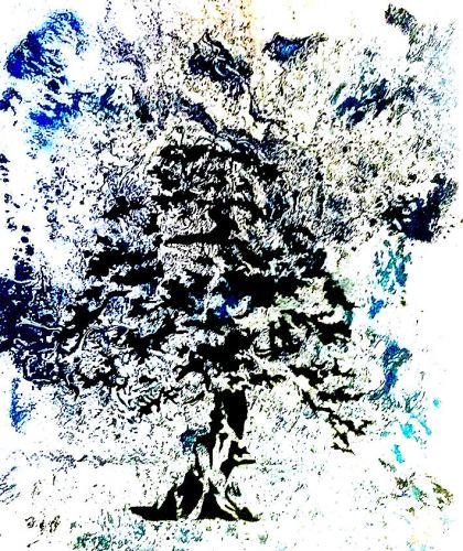 Abstract Tree, Painting by Dan Groover