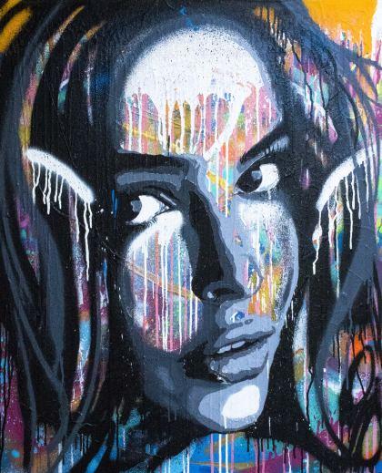 Danit, Painting by Shimon Wanda