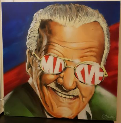 RIP Stan Lee, Peinture by Elad Greenberg