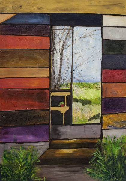 The Window, Painting by Ruth Rachel Cymberg