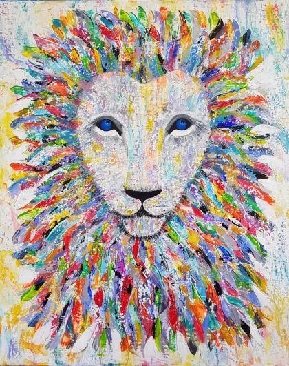 Rasta lion, Peinture by Orli Ziv