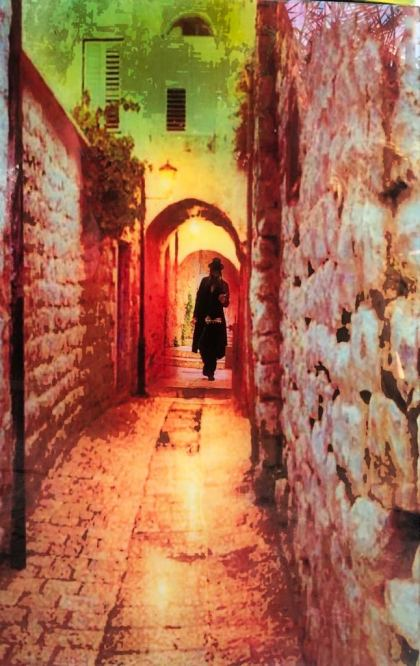 Jerusalem Old City , Painting by Dan Groover