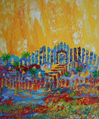 Cloud Jerusalem, Painting by Orli Ziv