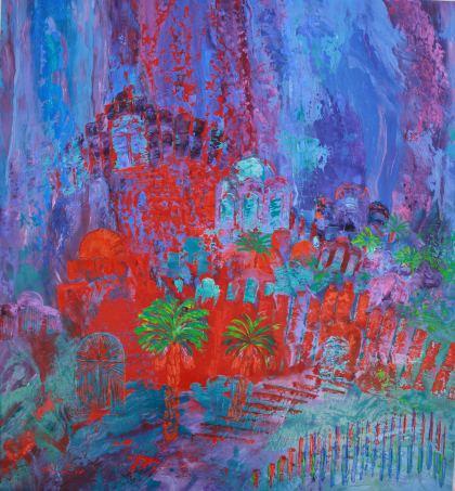 Jerusalem Inspiration, Painting by Orli Ziv