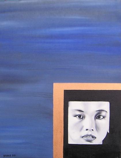 Asian Portrait, Painting by Heike Zaun-Goshen