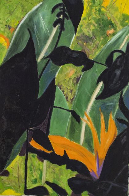 Bird of Paradise, Painting by Ruth Rachel Cymberg