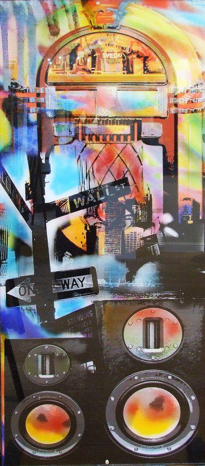 Speaker in New York, Painting by Dan Groover - דן גרובר