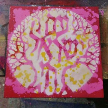 Am Israel Chai (Pink) © Dan Groover - דן גרובר