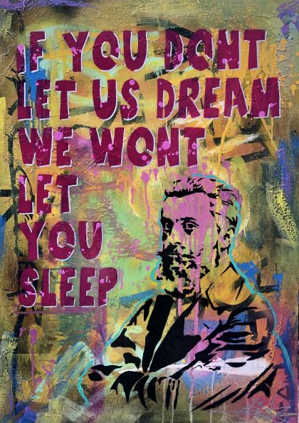 Let Us Dream , Painting by Dan Groover - דן גרובר