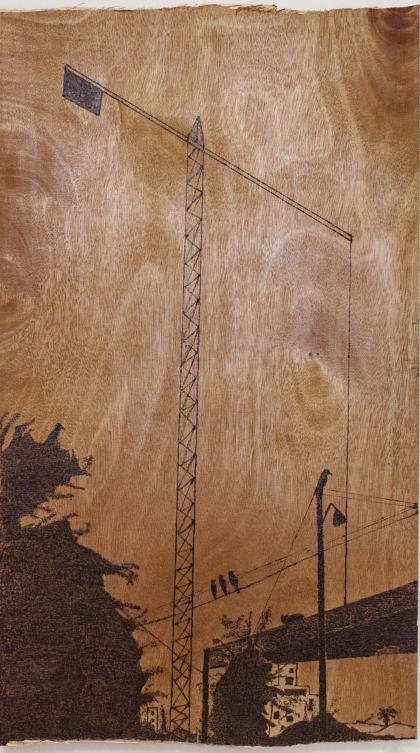 Crane, Painting by Ruth Rachel Cymberg