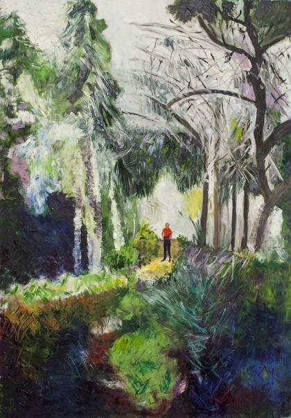 Meir Garden, Painting by Ruth Rachel Cymberg