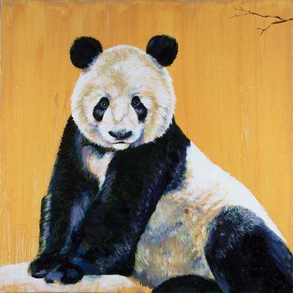 Panda, Painting by Maayan Shira