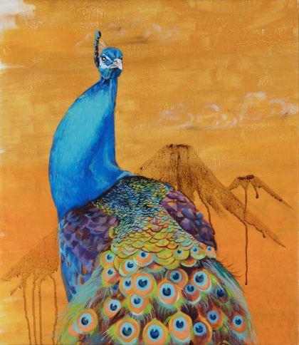 Peacock, Painting by Maayan Shira