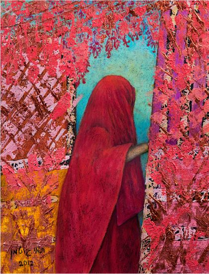 Woman at the Door 1, Painting by Tami Gutman