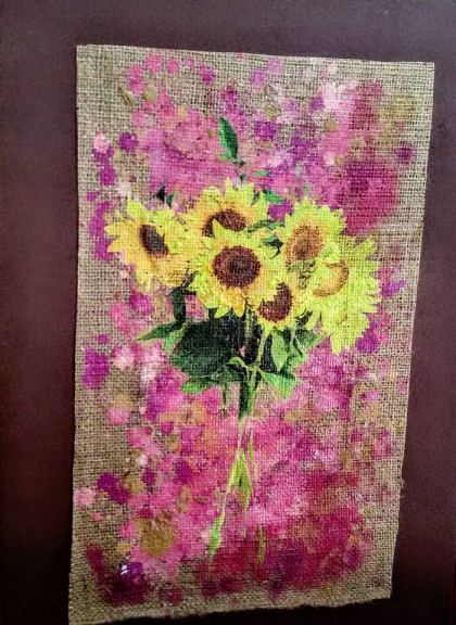 Sunflowers, Painting by Dan Groover - דן גרובר