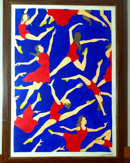 Wild Ballet, Painting by Elad Greenberg